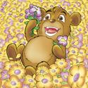Cuddly Critters cute cartoon animal character: Bailey Bear