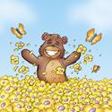 Cuddly Critters cute cartoon animals: Baxter Bear