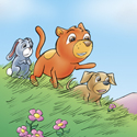Cuddly Critters cute cartoon animal characters: Cuddle Bunch - check it out...