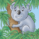 Cuddly Critters cute cartoon animal character: Kerwin Koala