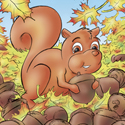 Cuddly Critters cute cartoon animal character: Skippy Squirrel