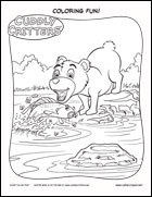 Ad for Cuddly Critters coloring pages at www.cybercrayon.net